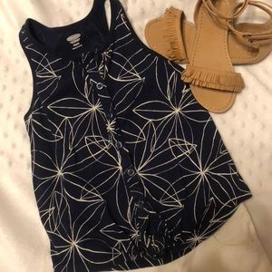 Old Navy Knot Front Button Up Tank